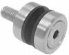 Uchwyt szkła model 43 ,(ROTUL) dla profilu, dystans 10 mm, AISI 304, szlifowany, nierdzewny, CE