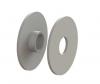 Komplet (2 szt) gumek białych, dla uchwytu szkła ROTUL model 46, CE