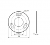 Stopa montażowa, kryza Ø100x6mm/42,4mm, AISI 304, surowa, nierdzewna, CE