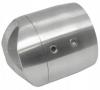 Mocowanie rury Ø33,7mm do słupka Ø33,7mm, AISI 304, szlif, nierdzewny ,CE