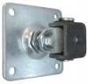 Zawias regulowany z płytką montażową 100x100 mm, ocynkowany, gwint M20-K