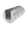 Uchwyt blachy Model 20 , dla słupka Ø42,4mm, AISI 316, polerowany, nierdzewny, CE