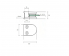 Uchwyt blachy Model 20 , dla słupka Ø42,4mm, AISI 304, polerowany, nierdzewny, CE