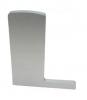 Zaślepka PRAWA profilu balustrady szklanej do montażu podłogowego L, aluminiowa, szlif-elox