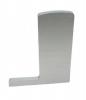 Zaślepka LEWA profilu balustrady szklanej do montażu podłogowego L, aluminiowa, szlif-elox