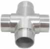 Czwórnik dla rury Ø42,4x2mm,AISI 304,szlifowany, nierdzewny, CE