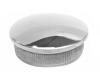 Zaślepka soczewka dla rury Ø42,4x2,0mm,AISI 304,polerowana, nierdzewna, CE