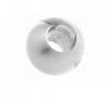 Kulka - przelotowa dla rurki Ø12,0 mm, AISI 304, szlifowana