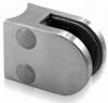 Uchwyt szkła model 20 , dla słupka Ø33,7mm, AISI 304, szlifowany, nierdzewny, CE
