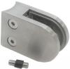 Uchwyt szkła Model 22 , dla słupka Ø42,4mm, AISI 304, szlifowany, nierdzewny, CE