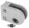 Uchwyt szkła Model 22 , dla słupka Ø42,4mm, AISI 304, polerowany, nierdzewny, CE