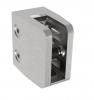 Uchwyt szkła Model 26 , dla profilu, AISI 304, szlifowany, nierdzewny, CE