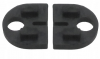 Komplet (2szt) gumek dla szkła 6mm,dla uchwytu Model 20, CE