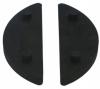 Komplet (2szt) gumek dla szkła 12mm, dla uchwytu Model 40/41, CE