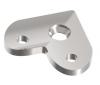 Blaszka montażowa narożna dla poręczy Ø42,4x2mm, AISI 304, szlifowana, nierdzewna, CE