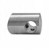 Uchwyt przelotowy rurki Ø14/42,4mm, AISI 304, szlifowany, nierdzewny, CE
