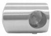 Uchwyt lewy rurki Ø12/42,4mm, AISI 304, szlifowany, nierdzewny, CE