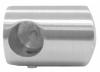 Uchwyt prawy rurki Ø10/42,4mm, AISI 304, szlifowany, nierdzewny, CE