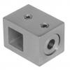 Uchwyt przelotowy 12x12/profil, AISI 304, szlifowany, nierdzewny, CE