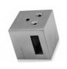 Uchwyt przelotowy/złączny 15x5/profil, AISI 304, szlifowany, nierdzewny, CE