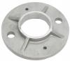 Stopa montażowa, kryza Ø100x8mm/42,4mm, AISI 304, surowa, nierdzewna, CE