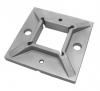 Stopa montażowa, kryza 100x100x8mm/profil, AISI 304, surowa, nierdzewna, CE
