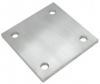 Stopa montażowa 100x100x6mm, AISI 304, szlifowana, nierdzewna, CE