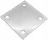 Stopa montażowa 100x100x6mm, AISI 304, surowa, nierdzewna, CE