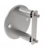 Mocowanie boczne Ø100x6mm/Ø42,4mm, AISI 304, szlifowane, nierdzewne, CE