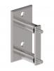 Mocowanie boczne 119x60mm/Ø42,4mm, AISI 304, polerowane, nierdzewne, CE