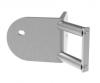 Mocowanie narożne-zewnętrzne słupka Ø42,4mm, AISI 316, szlifowane, nierdzewne, CE