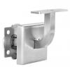 Wspornik poręczy płaskiej, spawany ,kwadratowy na 4 śruby + maskownica , AISI 304, szlifowany, nierdzewny, CE