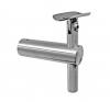 Uchwyt blachy Model 21 , dla słupka Ø42,4mm, AISI 304, polerowany, nierdzewny, CE