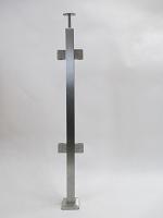 Słupek kwadratowy - wypełnienie szkło