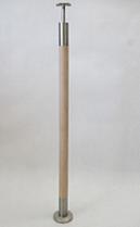 Słupek okrągły + drewno - nieuzbrojony ( bez uchwytów )