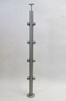 Słupek okrągły - pozioma rura Ø42,4 x 2mm