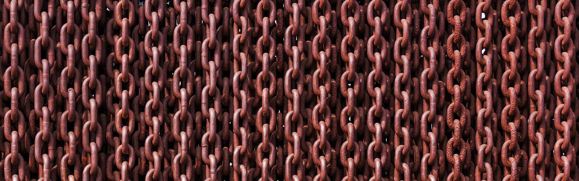 łańcuchy zardzewiałe